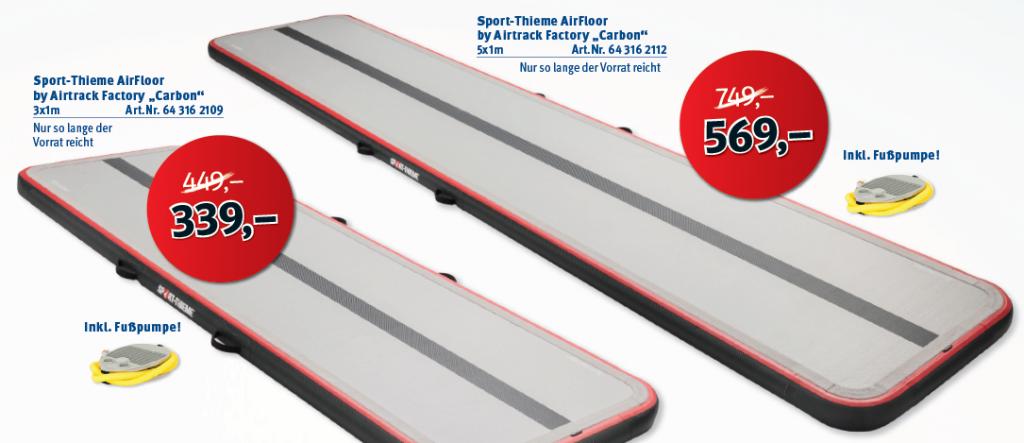 AirTrack Angebot Sport Thieme